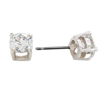 Napier® Silver Tone Cubic Zirconia Stud Earrings