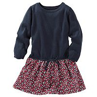 Girls 4-8 OshKosh B'gosh® Mock-Layered Floral Sweater Dress