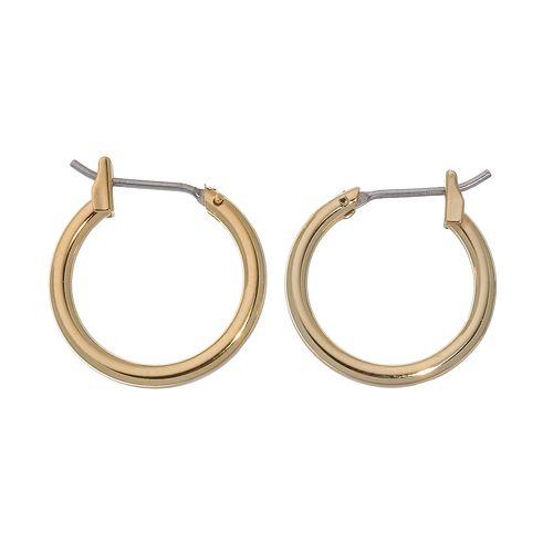 Napier® Gold-Tone Hoop Earrings - 5/8-in.