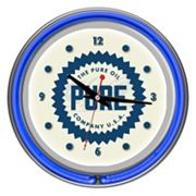 'Pure Oil' Chrome Finish Neon Wall Clock