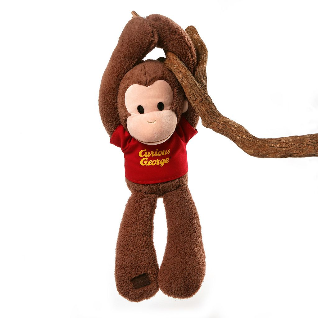 GUND Curious George Take Along Touch & Close Plush Monkey