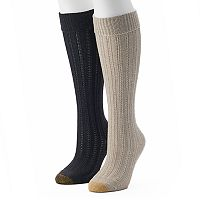 Women's GOLDTOE 2-pk. Cable-Knit Knee-High Socks