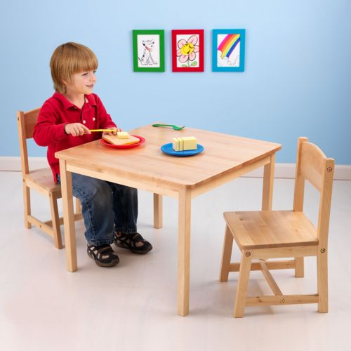 KidKraft Aspen Table and Chair Set - Natural Finish