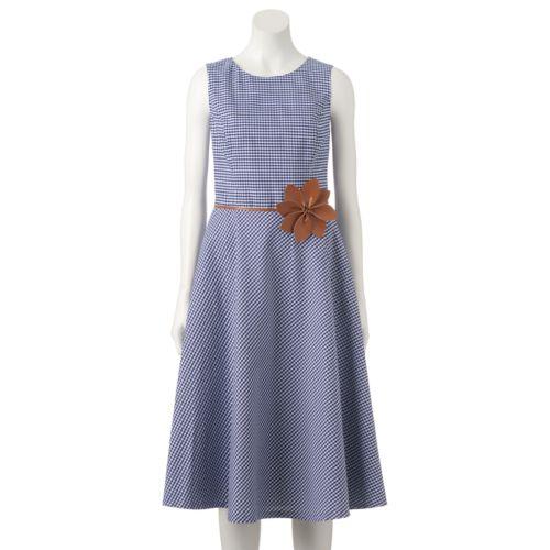 Women's Jessica Howard Gingham Fit & Flare Midi Dress