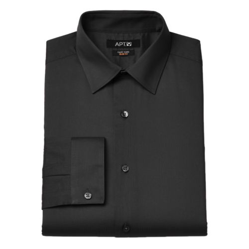Men's Apt. 9® Slim-Fit Dobby Textured Easy-Care Dress Shirts