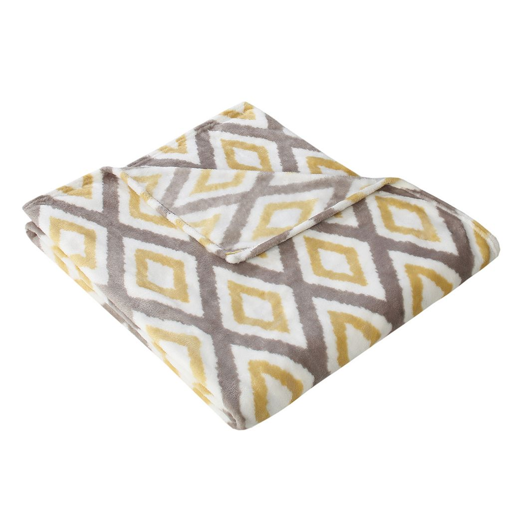 Madison Park Ikat Diamond Throw