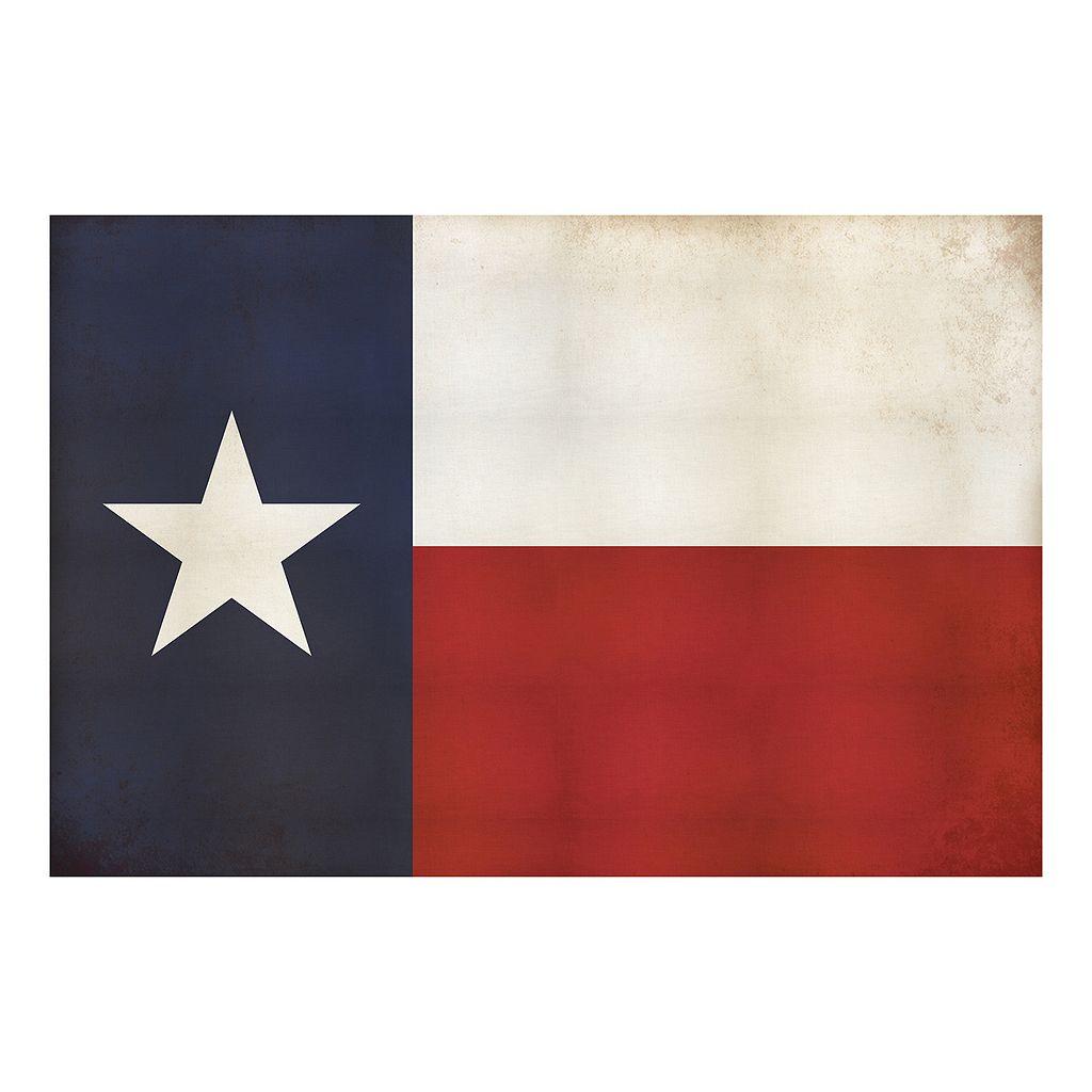 Reflective Art Texas Flag Canvas Wall Art