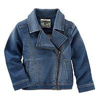 Toddler Girl OshKosh B'gosh® Stretchy Denim Moto Jacket