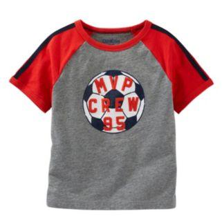 """Boys 4-8 OshKosh B'gosh® Raglan Short Sleeve """"MVP Crew"""" Soccer Tee"""