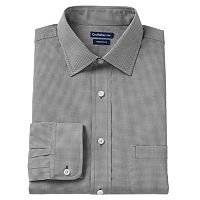 Men's Croft & Barrow® Slim-Fit Checked Easy Care Dress Shirt