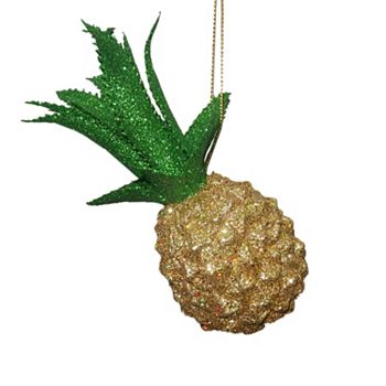 st nicholas square glitter pineapple christmas ornament