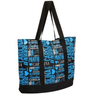 Forever Collectibles Carolina Panthers Collage Tote