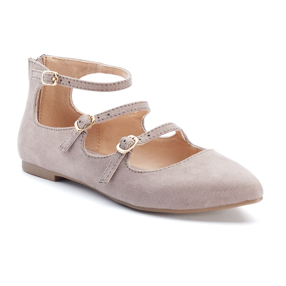 LC Lauren Conrad Women's Strappy Ballet Flats