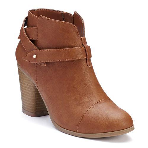 LC Lauren Conrad Women's Slit Ankle Boots