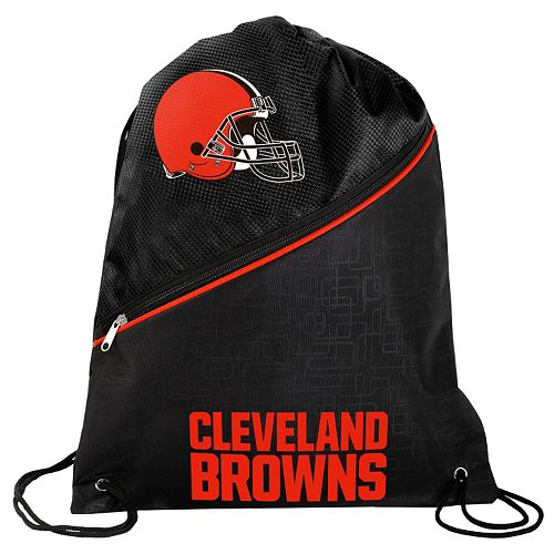 Cleveland Browns Zipper Drawstring Backpack