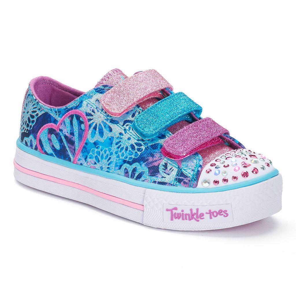Skechers Twinkle Toes Shuffles Sweet Spirit Girls' Light-Up Shoes