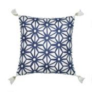 Jill Rosenwald Greek Key Embroidered Throw Pillow
