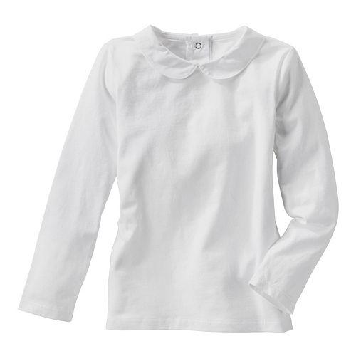056a816cd Toddler Girl OshKosh B'gosh® Peter Pan Collar White Long Sleeve Top