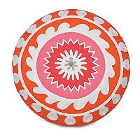 Jill Rosenwald Multi Patch Round Throw Pillow
