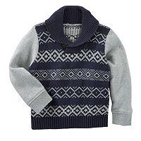 Boys 4-8 OshKosh B'gosh® Fairisle Shawl Collar Pullover