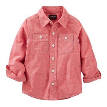 Boys 4-8 OshKosh B'gosh® Red Chambray Pocket Button-Down Shirt