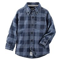 Boys 4-8 OshKosh B'gosh® Chambray Checkered Button-Down Long Sleeve Shirt