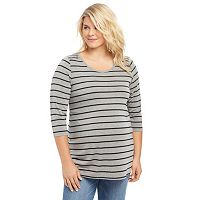 Plus Size Maternity Oh Baby by Motherhood™ Striped Tunic