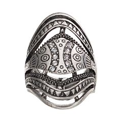 Antiqued Stretch Ring