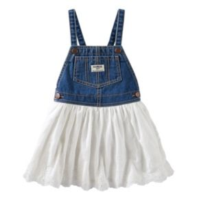 Toddler Girl OshKosh B'gosh® Eyelet Lace Denim Jumper