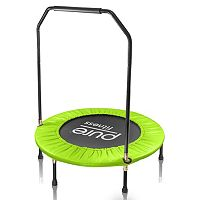 Pure Fitness 40-Inch Mini Trampoline with Handrail Rebounder