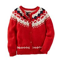 Toddler Girl OshKosh B'gosh® Fairisle Wool Cardigan