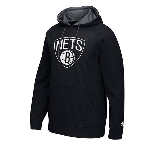 Men's adidas Brooklyn Nets Fleece Tip Off Playbook Hoodie