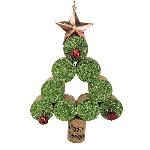st nicholas square glitter cork tree christmas ornament - Kohls Christmas Decorations