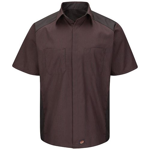 Men's Red Kap Classic-Fit Striped Button-Down Shirt