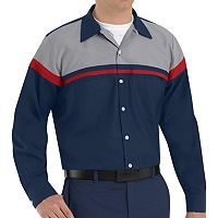 Men's Red Kap Classic-Fit Technician Button-Down Work Shirt
