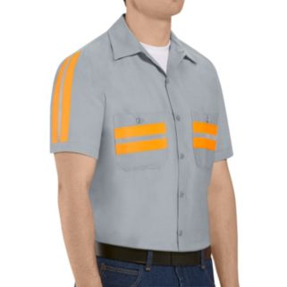 Men's Red Kap Classic-Fit Enhanced Visibility Button-Down Shirt