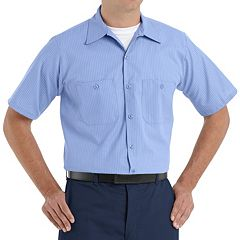 Men's Red Kap Classic-Fit Durastripe® Striped Button-Down Work Shirt