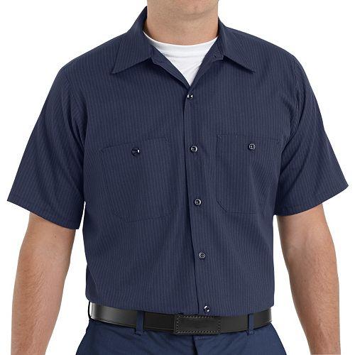 Men's Red Kap Classic-Fit Durastripe® Striped Button-Down Work Shirt