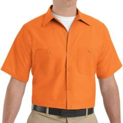 Orange Button-Down Shirts Work & Safety Tops, Clothing   Kohl's