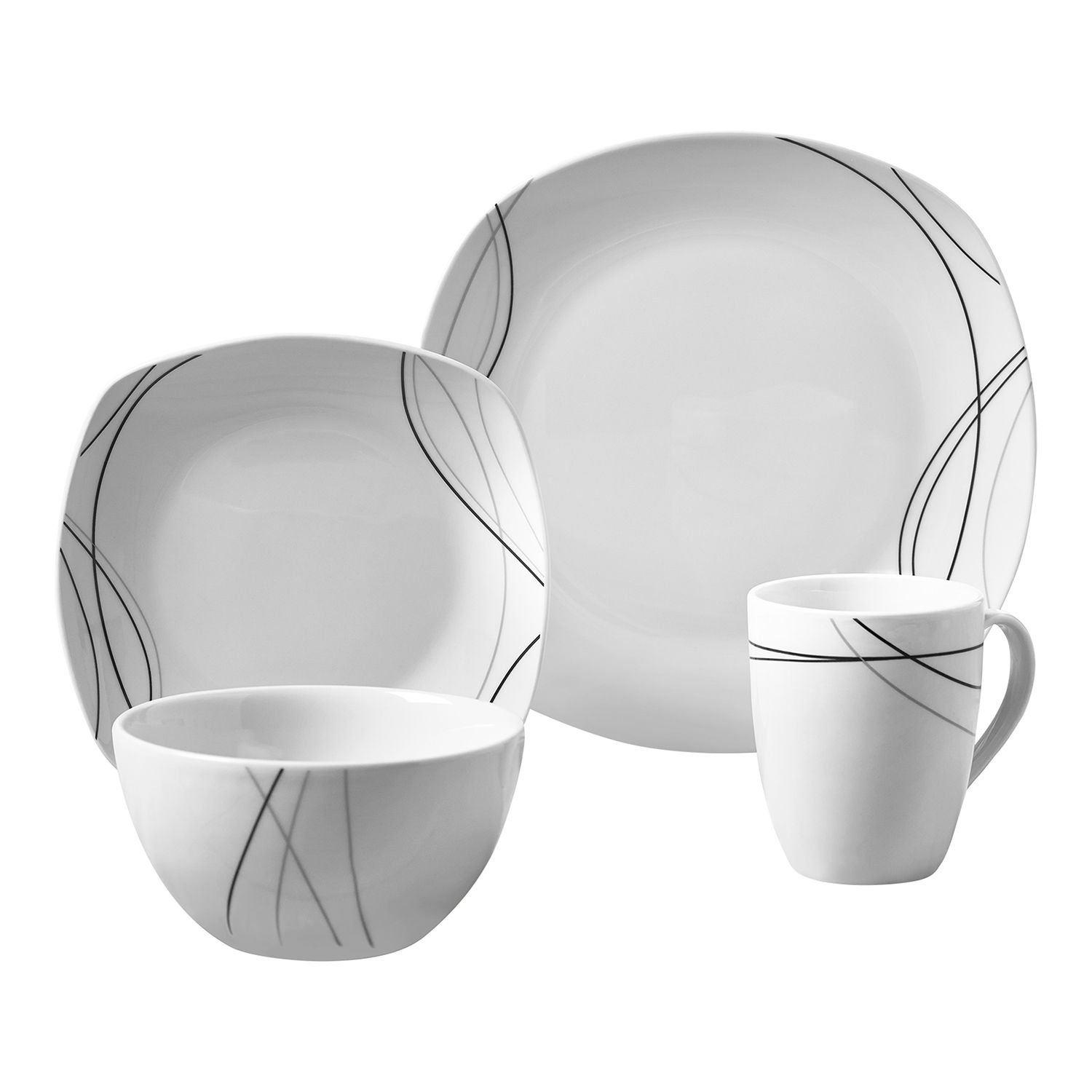 Soft Square Dinnerware Set  sc 1 st  Kohlu0027s & Gallery Alec 16-pc. Soft Square Dinnerware Set