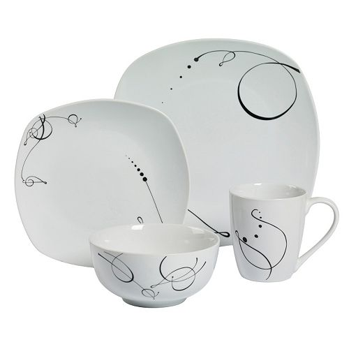 Gallery Pescara 16-pc. Soft Square Dinnerware Set