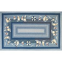 KAS Rugs Fairfax Sailboats Indoor Outdoor Rug