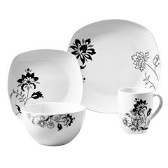 Gallery Rebecca 16 pc Soft Square Dinnerware Set