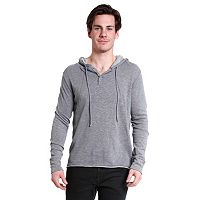Men's Excelled Raw-Hem Slim-Fitting Hoodie
