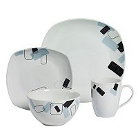 Gallery Dean 16 pc Soft Square Dinnerware Set