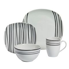 Gallery Justin 16 pc Soft Square Dinnerware Set