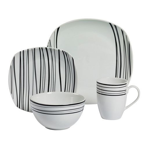 Gallery Justin 16-pc. Soft Square Dinnerware Set