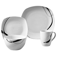 Gallery Carnival 16 pc Soft Square Dinnerware Set