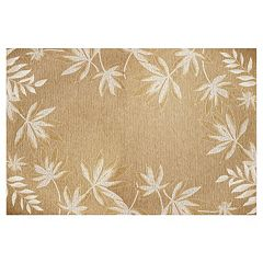 KAS Rugs Horizon Fern Border Indoor Outdoor Rug