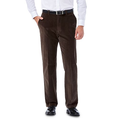 Men's Haggar® Classic-Fit Stretch Expandable Waistband Corduroy Pants